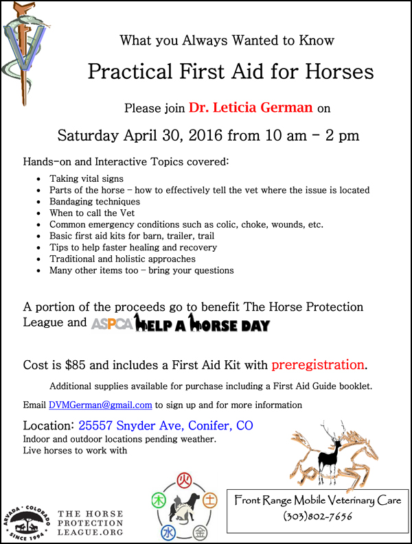 2016 First Aid clinic flyer2